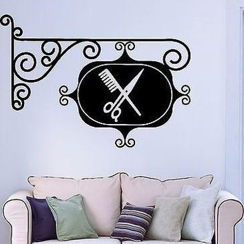 Wall Sticker Vinyl Decal Sign Barbershop Hair Salon Stylist Hairdresser Unique Gift (ig1787)
