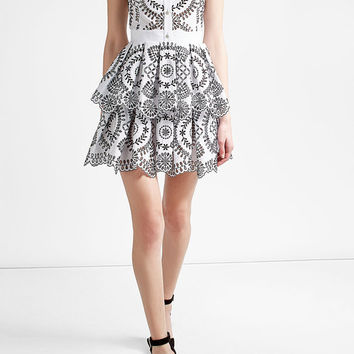 Cotton Broderie Anglaise Dress - Alexander McQueen | WOMEN | US STYLEBOP.COM