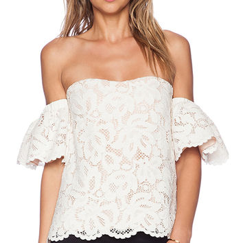 Alexis Valentino Lace Top in Ivory