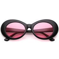 Retro 90's Fashion Oval Round Pantone Lens Sunglasses C441