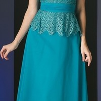 Short Sleeve Lace Overlay Mother of Groom Dress Jade (6 Colors Available)
