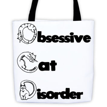 Obsessive Cat Disorder Tote bag