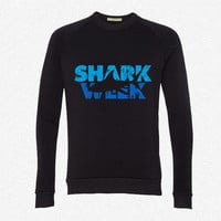shark week fleece crewneck sweatshirt