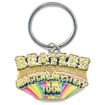 Beatles Magical Mystery Tour Metal Key Chain Silver