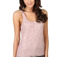 Sequin Lace Tank with High Low Hem and Solid Back