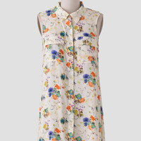 Brand New Day Floral Button-Up Dress