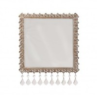 "Wake Up Frankie - ""Crystal"" Beaded Wall Mirror : Teen Bedding, Pink Bedding, Dorm Bedding, Teen Comforters"