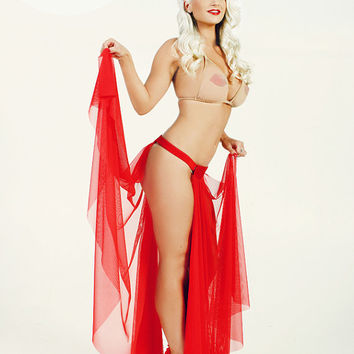 Classic burlesque Panel Skirt - Create your own burlesque costume by adding embellishments!