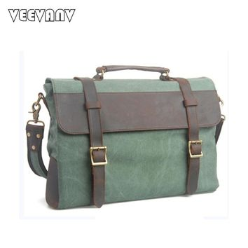 2017 Vintage Postman Men's Messenger Bags Canvas Shoulder Bags Fashion Men Business Briefcase Travel Crossbody Bags Men Handbags