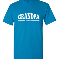 Grandpa Since 2014, New Grandpa Tshirt, Gift for Grandpa, New Grandpa Present, Present for Grandpa, Father's Day Present BD-048