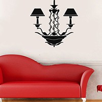 Wall Decal Chandelier Vinyl Sticker Wall Decoration Fancy Silhouette Decals Home Decor Art Bedroom Design Interior C503