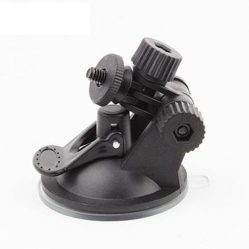 Universal vehicle car driving recorder camera suction cup bracket mount holder black for GoPro Hero 5 4 3+ Action camera