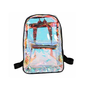 Transparent Backpack | Casual Backpack Student School Daypack for Travel Caming