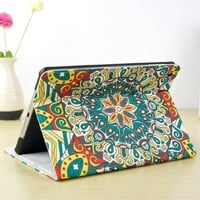 CrazyPomelo Vintage Totem Leather Case For iPad Air