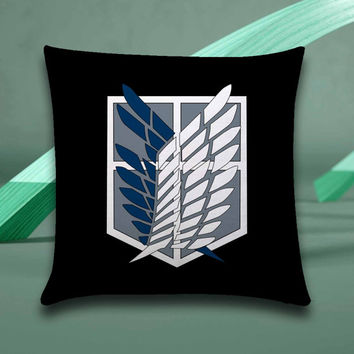 attack on Titan Pillow case size 16x16, 16x24, 18x18, 20x30, 20x26