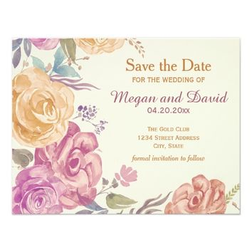Colorful Garden Roses | Save the Date Card