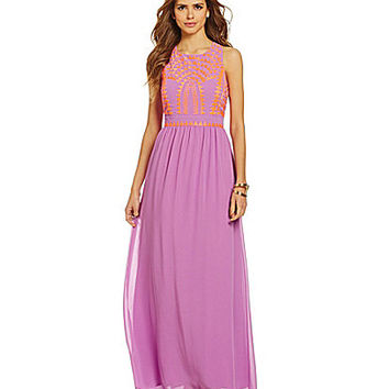 Gianni Bini Shawna Tribal Maxi Dress - Bright Lilac