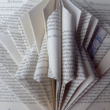 Folded Book Art, Book Bloom, Folded Pages, Recycled, Upcycled