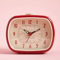 It's About Timeless Clock in Retro Red