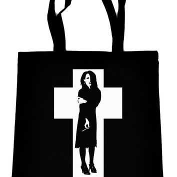 Rozz Williams on Black Tote Book Bag Christian Death & Shadow Project Deathrock Handbag