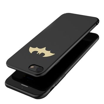 Luxury Batman Phone Case For iPhone 7 / 7 Plus / 6 6S / 6 Plus Coque Protective PC Hard Back Cover For iPhone 8 / 8 Plus Case