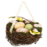 Nest Ornament with Green, Pink, & Brown Eggs | Hobby Lobby