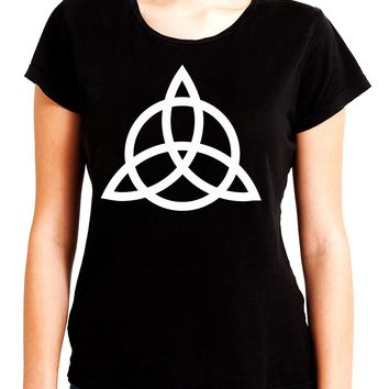 Triquetra Ancient Celtic Protection Symbol Women's Babydoll Shirt Occult Clothing