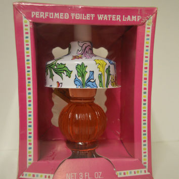 Vintage, Perfumed Toliet Water Lamp, 3 OZ. Romantic days.