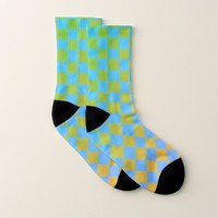 Ombre Checkered Socks