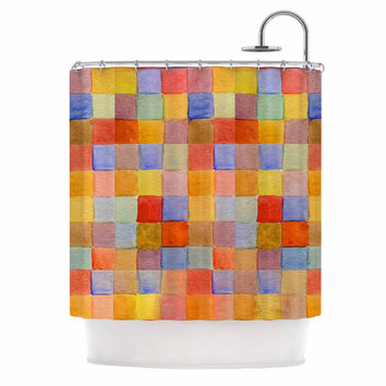 "Marianna Tankelevich ""Rainbow Mozaic"" Multicolor Pattern Shower Curtain"