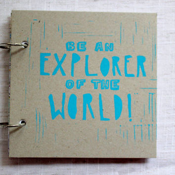 "Ring Bound Map Notebook - ""Be an Explorer of the World"""