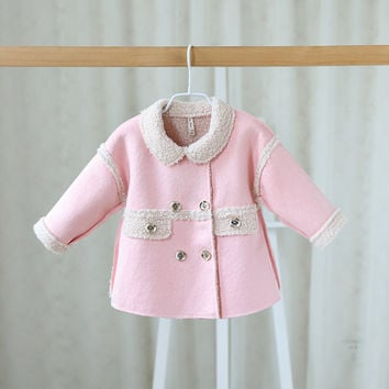 Baby girls autumn/ winter  jackets cardigan baby kids coat children clothing coats