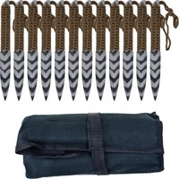 Whetstone Cutlery 12 Piece Set of Stripeger Kunai Knives with Carrying Case