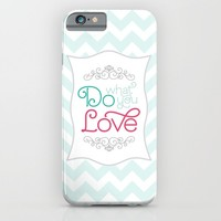 Do What You Love Pastel Print iPhone & iPod Case by Noonday Design
