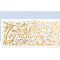 Champagne Floral Congrats Card