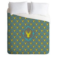 DENY Designs Home Accessories | Bianca Green Oh Deer 3 Woven Duvet Cover