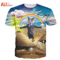 3d Cat T Shirt Printed Animal T-shirt Women Men Funny Harajuku Casual