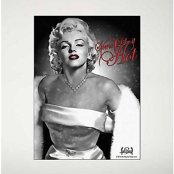 Foil Marilyn Monroe Fleece Blanket - Spencer's