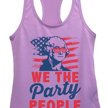 Womens We The Party People Grapahic Design Fitted Tank Top
