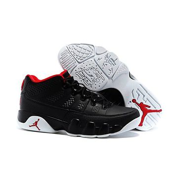 Nike Air Jordan 9 Retro Low Black/white/red Men Sport Shoe Size Us 7 13 | Best Deal Online