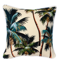 Oasis Cushion - Palm Trees Cream (cover only) | Spell & the Gypsy Collective