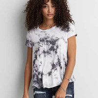 AEO Soft & Sexy Graphic Swing T-Shirt, White
