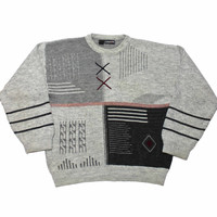Vintage 80s Acrylic/Wool Sweater Made in Italy Mens Size Large