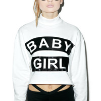 Rise of Dawn Baby Girl Cropped Sweater Black/White