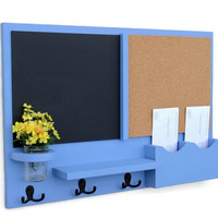 Mail Organizer -  Message Center - Cork Board - Chalk Board