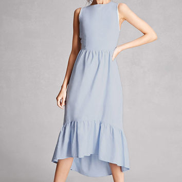 High-Low Chambray Dress