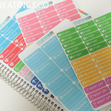 LS03 123 Nursing School Sticker Set for Planners, Erin Condren Planner, Limelife Planner, Happy Planner, Kikki K