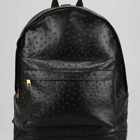 Mi-Pac Gold Ostrich Backpack- Black One