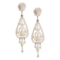 Small Mother of Pearl Pendant Earrings by DUBLOS