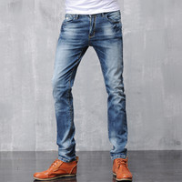Stretch Slim Denim Pants Men Jeans [6528597763]